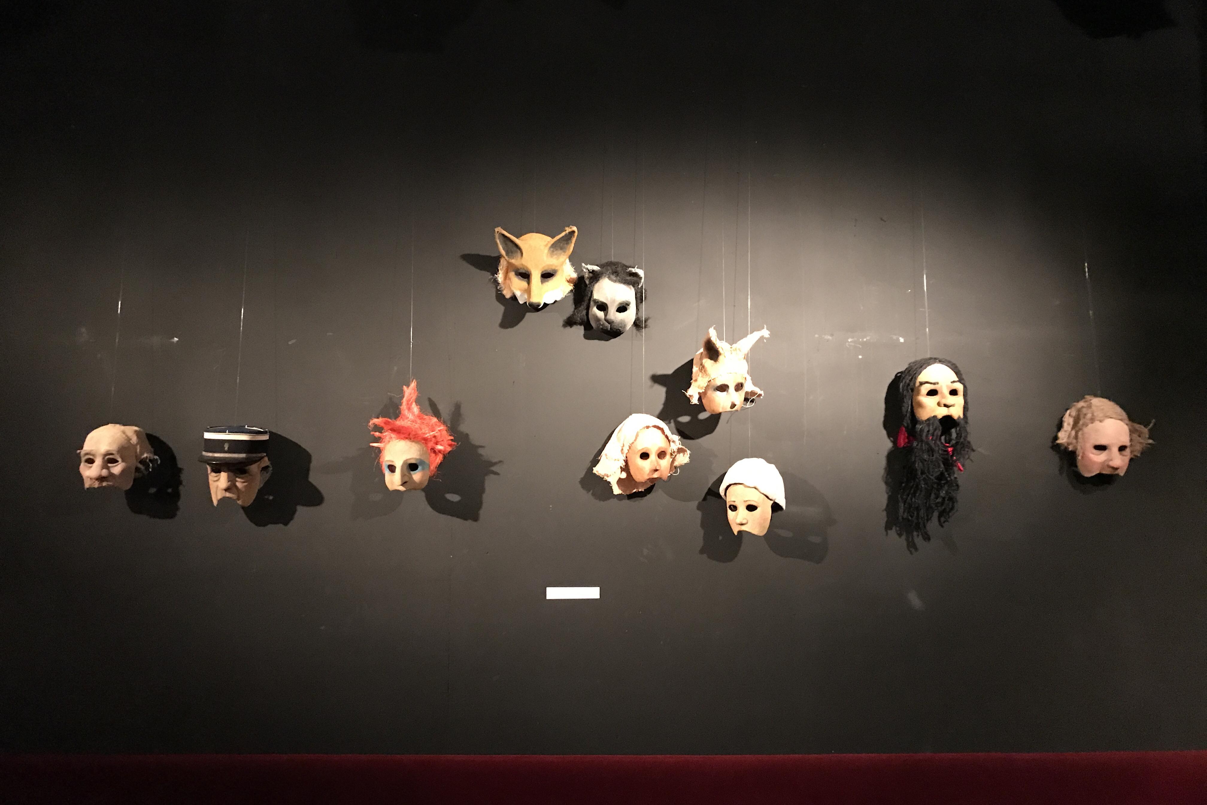 Exposition des masques de Pinocchio